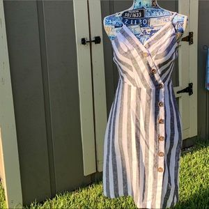 Love Tree 🌳 Faded Blue & White Sundress Sm. NWT